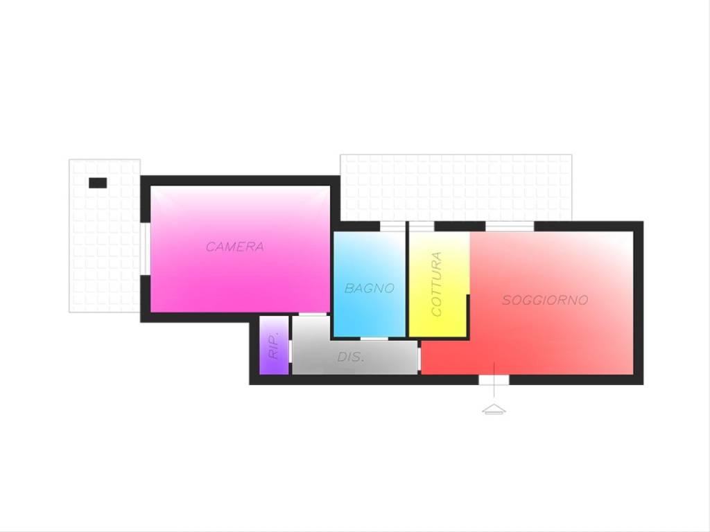 foto planimetria 2-room flat via Palmiro Togliatti, Lacchiarella