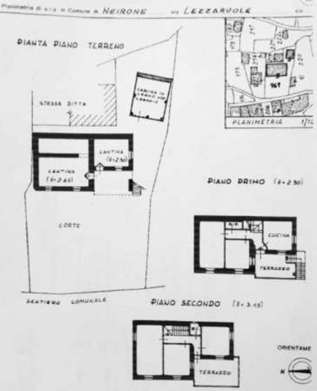 foto plan Country house borgo via Lezzaruole San c snc, Neirone