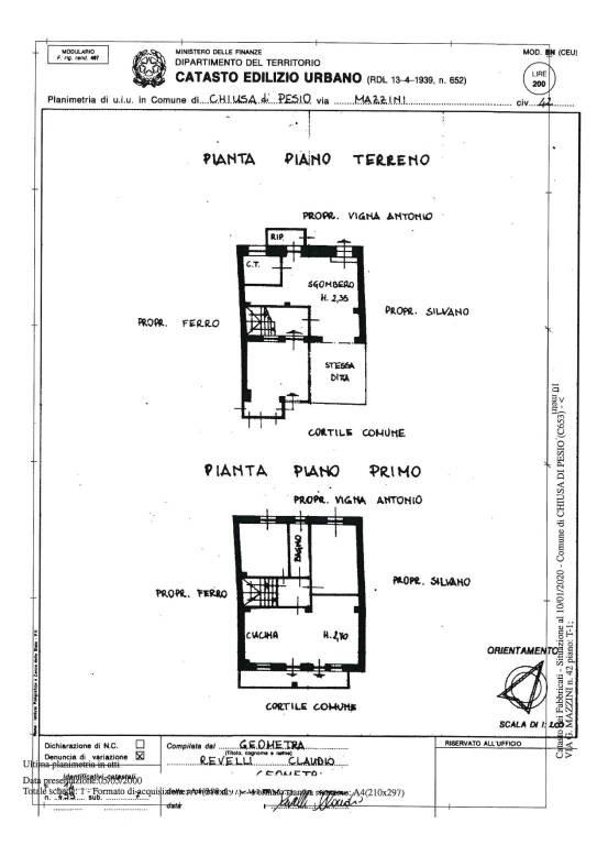 foto planimetrie Μονοκατοικία βίλα via Giuseppe Mazzini 42, Chiusa di Pesio