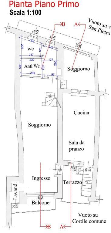 foto Plan. Piano Primo Appartamento corso Bisalta 197, Boves