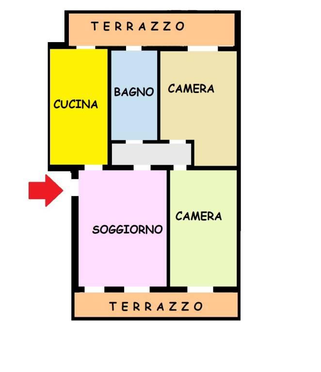 foto PLANIMETRIA 3-room flat via Guglielmo Marconi 70, Seriate