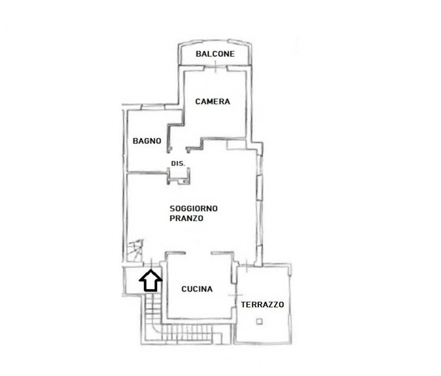 foto planimetria Piso de cuatro habitaciones via Sergio Mulitsch, Treviglio