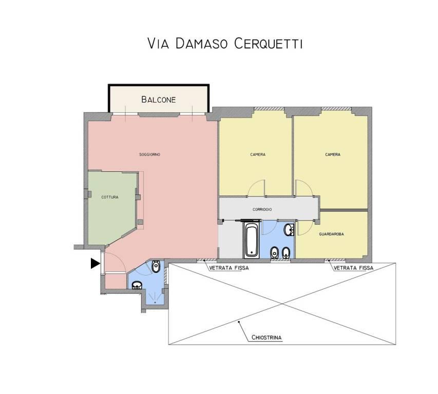 foto  4-room flat via Damaso Cerquetti, Roma