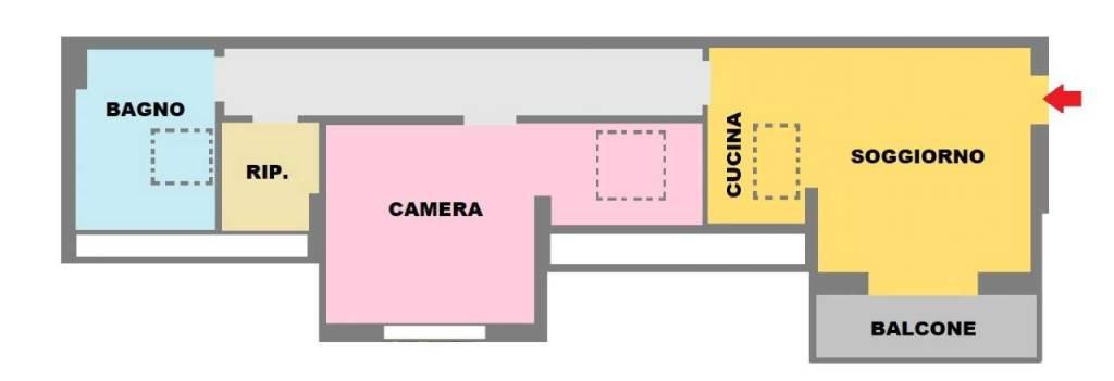 foto piantina Attic via Golgi 8, Opera