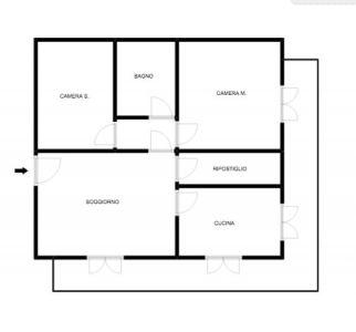 planimetria Appartamento Affitto Alba