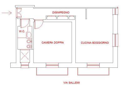 planimetria Appartamento Affitto Caltanissetta