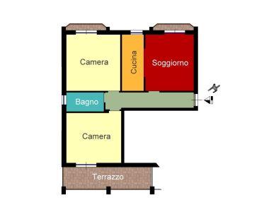 planimetria Appartamento Affitto Cusano Milanino
