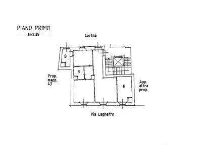 planimetria Appartamento Affitto Milano