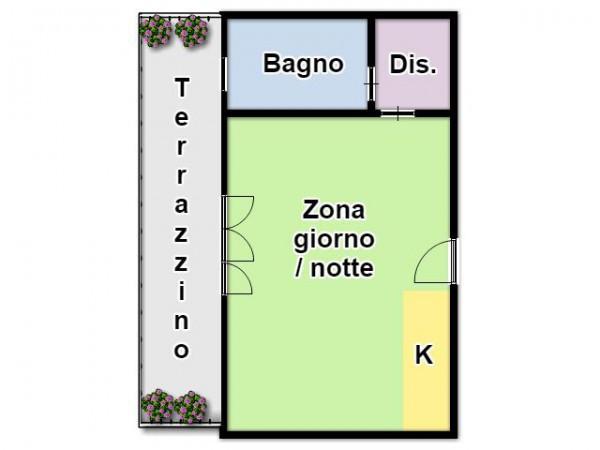 foto Piantina Monolocale via Giuseppe Ugolini 27-A, Milano