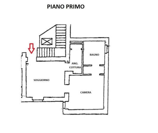 foto planimetria Bilocale corso Venezia, Milano