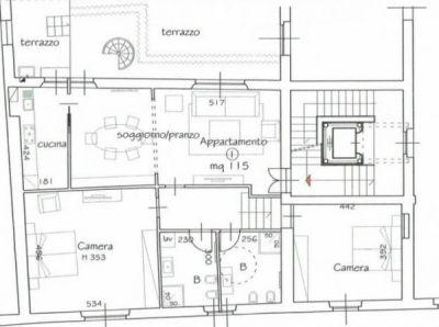 planimetria Appartamento Affitto Prato