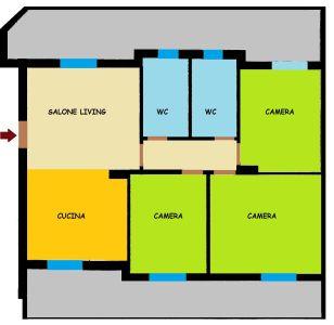 planimetria Appartamento Affitto Santa Maria Capua Vetere