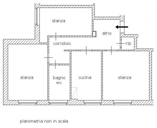 foto planimetria Trilocale Strada di Rozzol, Trieste