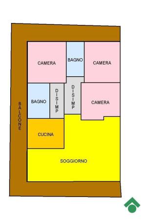 foto Planimetria Quadrilocale buono stato, piano rialzato, Albizzate