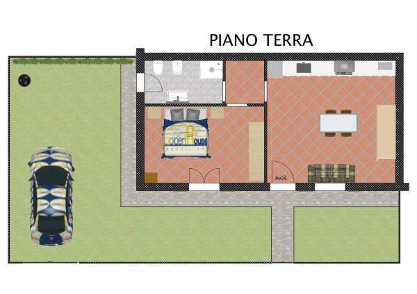 foto PIANTA PIANO TERRA Trilocale via Nerina Minozzi 55, Argenta