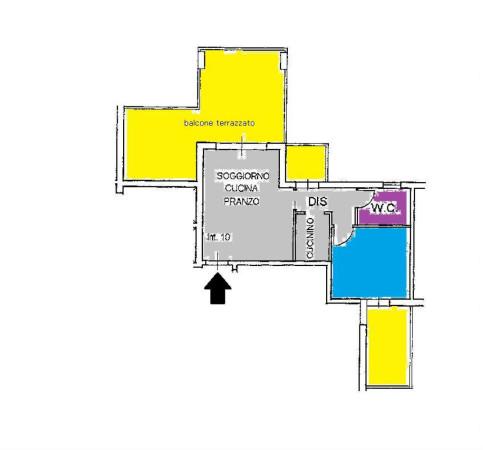 foto plan Trilocale via estramurale capruzzi, Bari