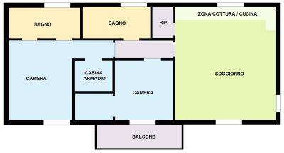 planimetria Appartamento Vendita Calvignasco
