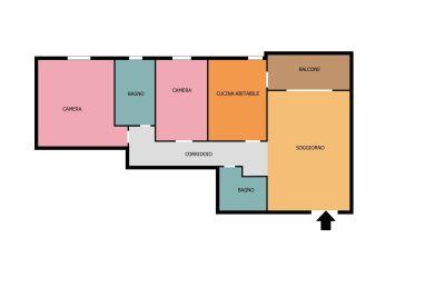 planimetria Appartamento Vendita Casalmaiocco