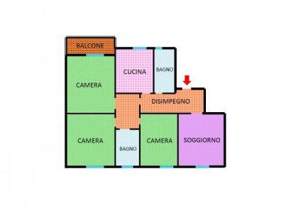 planimetria Appartamento Vendita Castel Maggiore