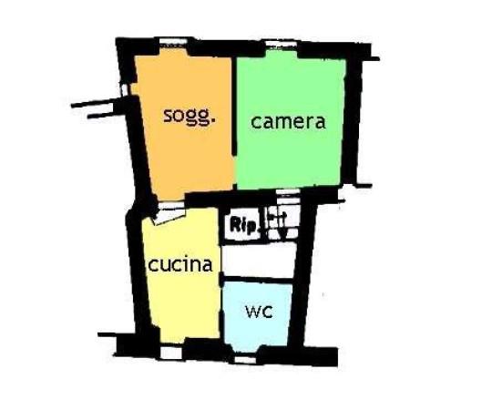 foto planimetria Trilocale via San Sebastiano, Ceriana
