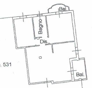 planimetria Appartamento Vendita Dovera