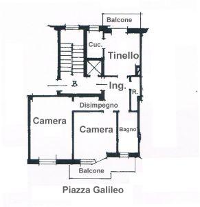 planimetria Appartamento Vendita Livorno Ferraris