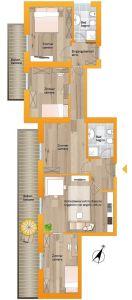 planimetria Appartamento Vendita Marebbe