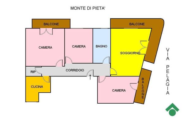 foto PLANIMETRIA Quadrilocale via Santa Pelagia, 8, Messina