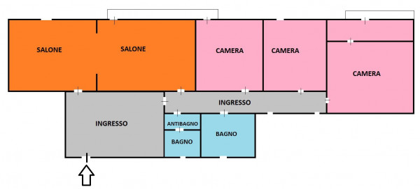 foto planimetria cairoli Appartamento via Giordano Bruno 35, Messina