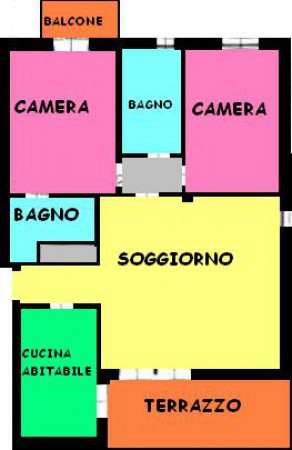 foto planimetria Trilocale ottimo stato, sesto piano, Milano