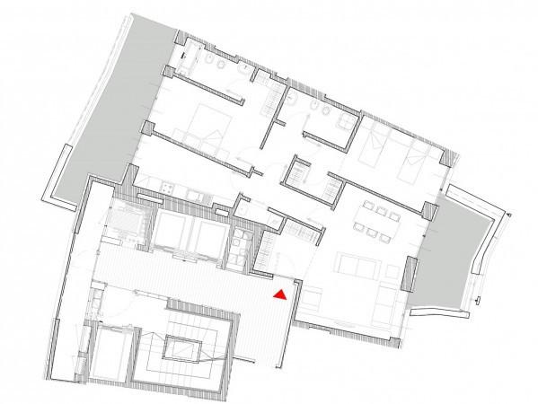 foto Planimetria Trilocale via Ambrogio Spinola 8, Milano