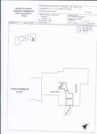 foto planimetria Appartamento Contrada Santa Lucia 39, Ortona