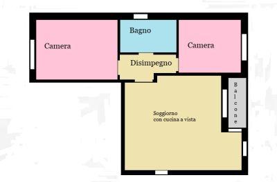 planimetria Appartamento Vendita Paullo