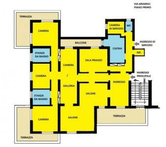 foto planimetria Appartamento via Antonio Gramsci, Roma