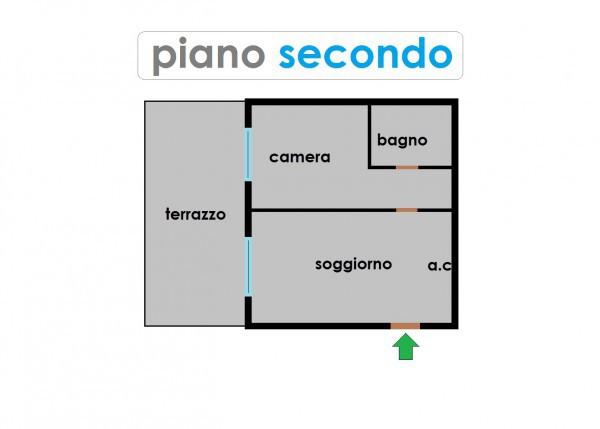 foto piano secondo Bilocale via Giana Anguissola, Roma