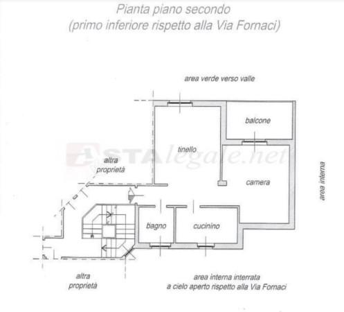 foto PLANIMETRIA Trilocale all'asta via FORNACI, 1, Rorà