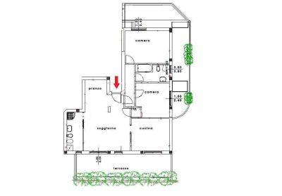 planimetria Appartamento Vendita Rovellasca