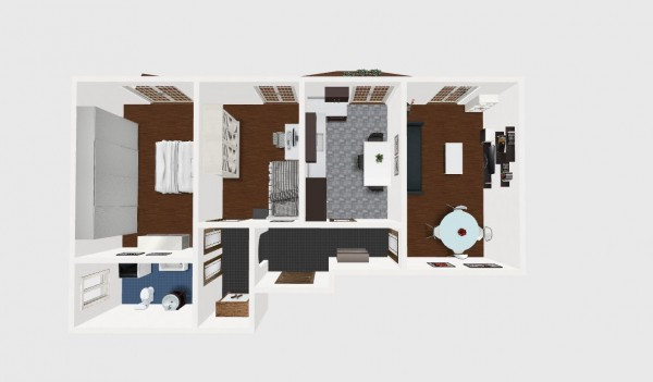 foto 2D Quadrilocale buono stato, terzo piano, Sagliano Micca