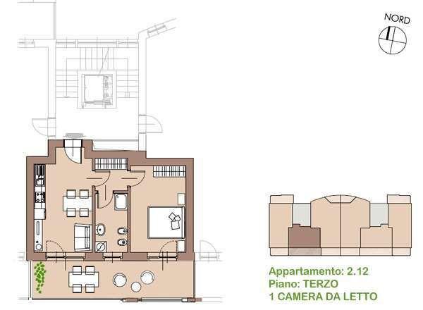 Vendita appartamento treviglio bilocale in via bergamo 23 for Piani di aggiunta della camera da letto del primo piano