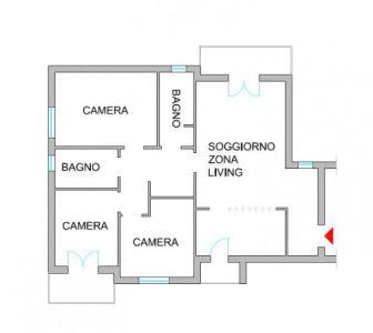 planimetria Appartamento Vendita Vercelli