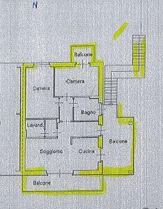 planimetria Appartamento Vendita Verdello