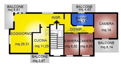 planimetria Appartamento Vendita Vicenza