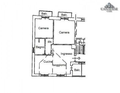 foto piantina Quadrilocale piazza Cavour 13, Vistrorio