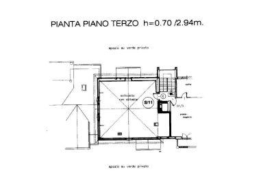 planimetria Attico / Mansarda Vendita Borgaro Torinese