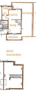 planimetria Attico / Mansarda Vendita Carmagnola