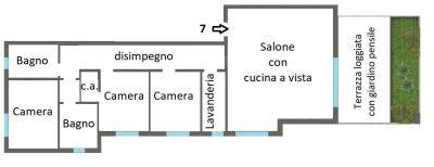 planimetria Attico / Mansarda Vendita Pianoro