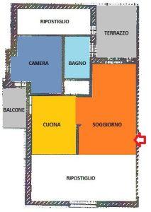 planimetria Attico / Mansarda Vendita Saluzzo