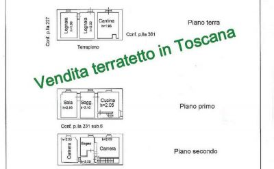 planimetria Casa indipendente Vendita Castel San Niccolò