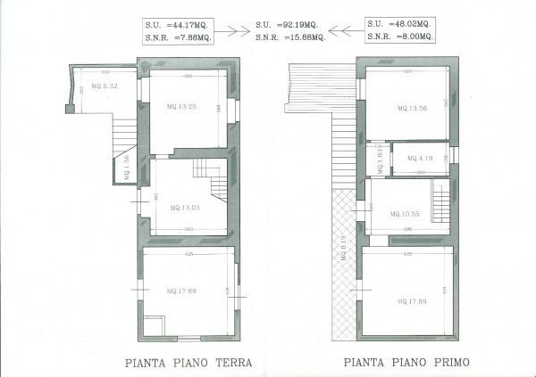 foto planimetria Casa indipendente 110 mq, da ristrutturare, Castiglion Fiorentino