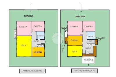 planimetria Casa indipendente Vendita Firenze